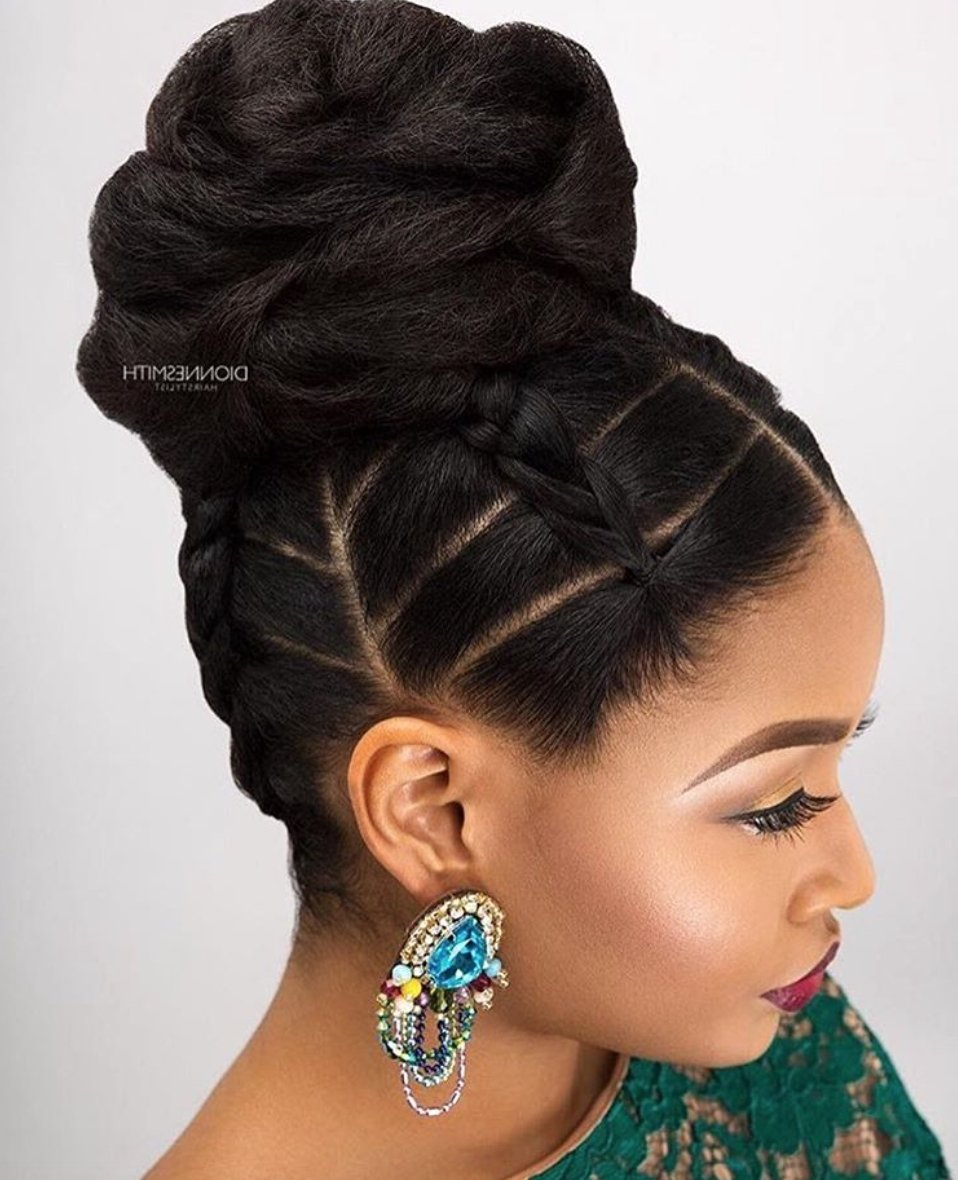 Free 2019 Popular Updo Hairstyles For Black Hair Wallpaper