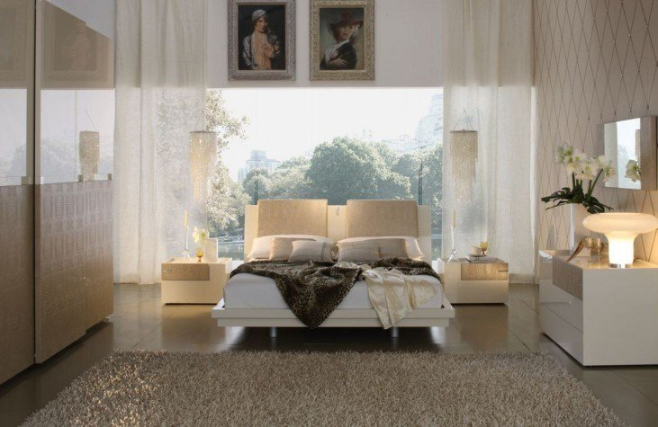Best Diamond Ivory Bedroom Set From Rossetto T2666Mm353054 With Pictures