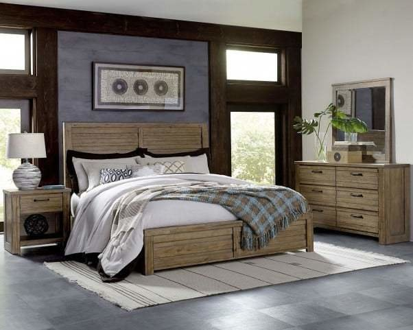 Best Soho Natural Wood Panel Bedroom Set From Pulaski Coleman Furniture With Pictures