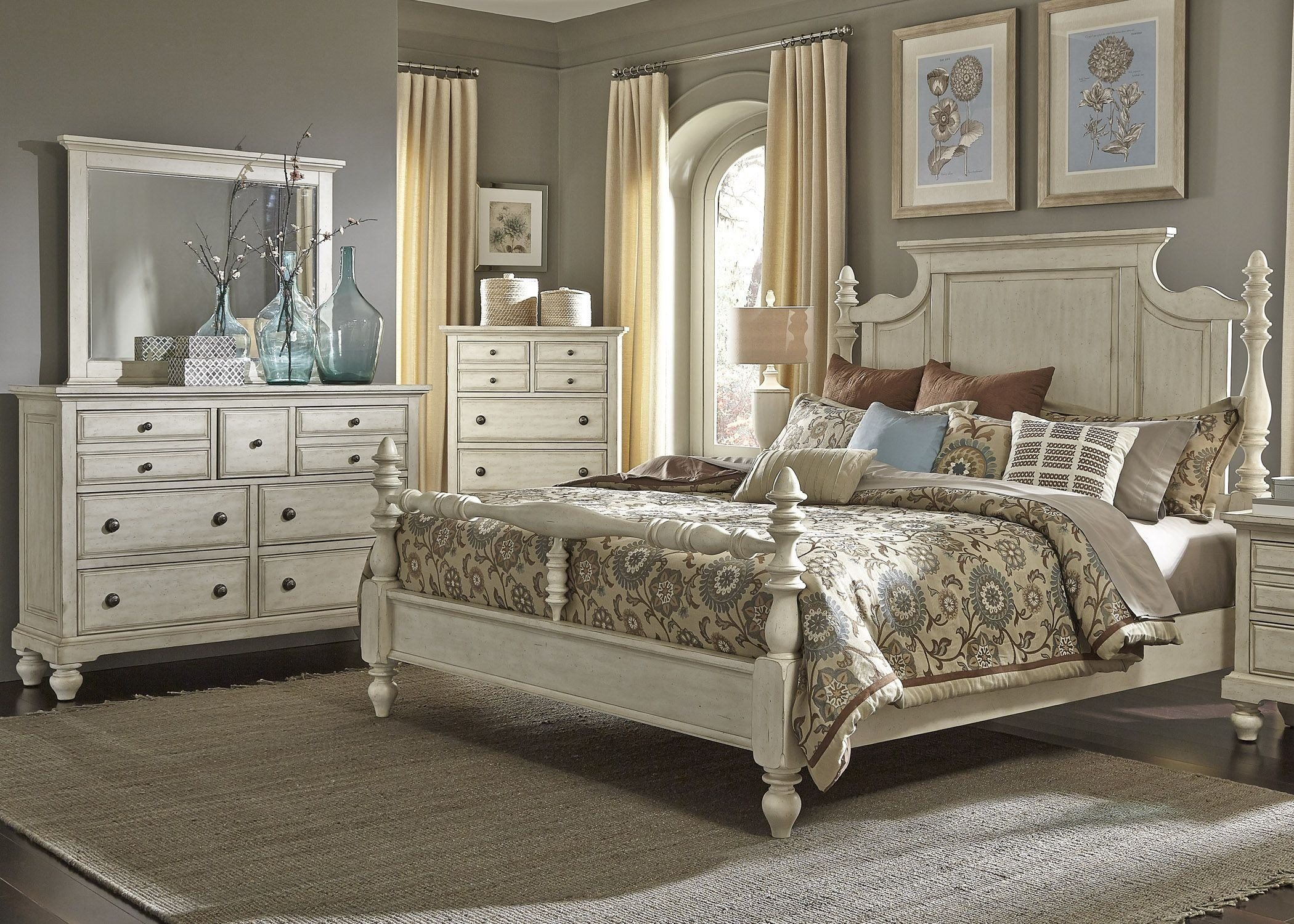 Best High Country White Poster Bedroom Set From Liberty 697 Br With Pictures