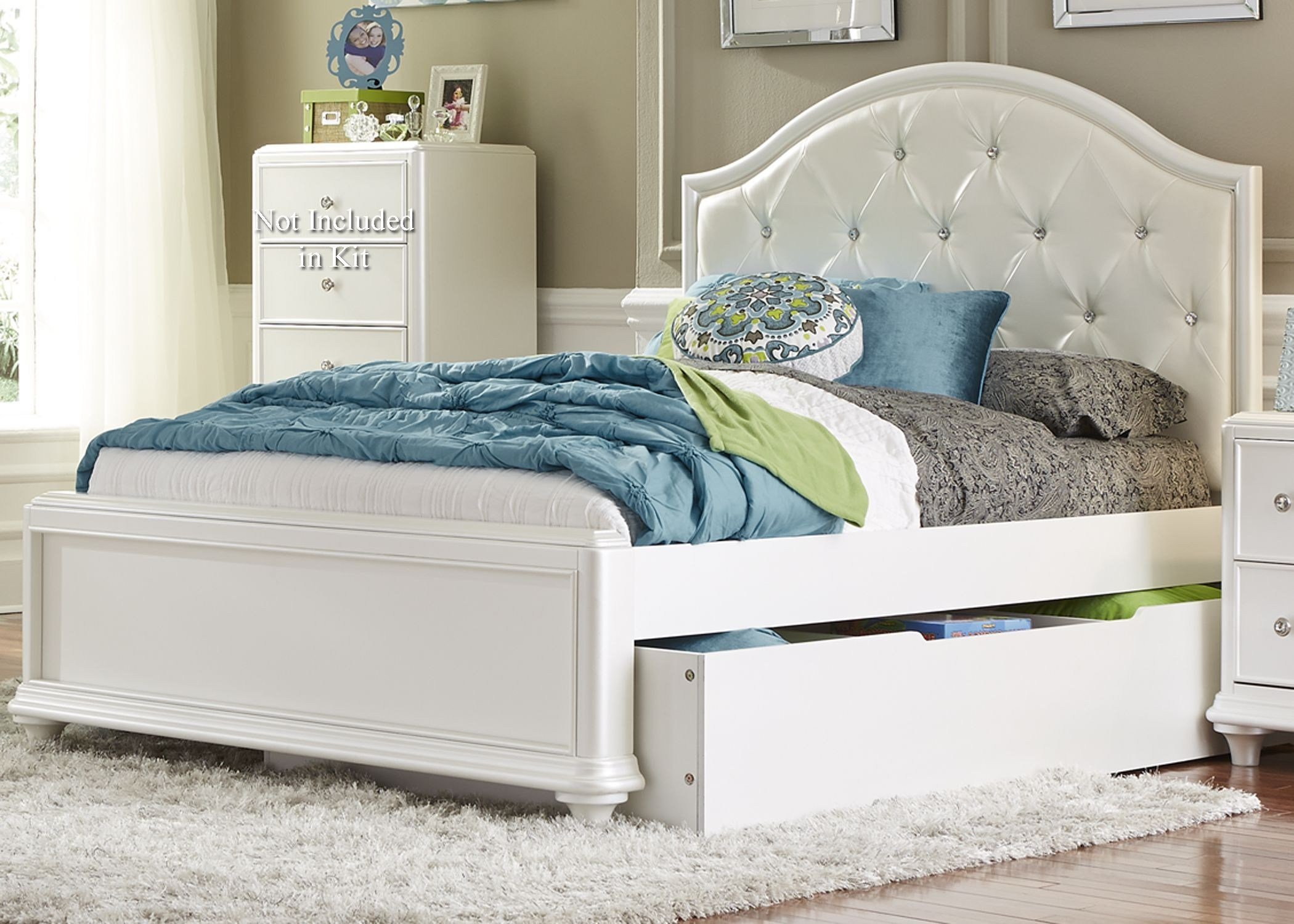 Best Stardust Iridescent White Youth Panel Trundle Bedroom Set With Pictures