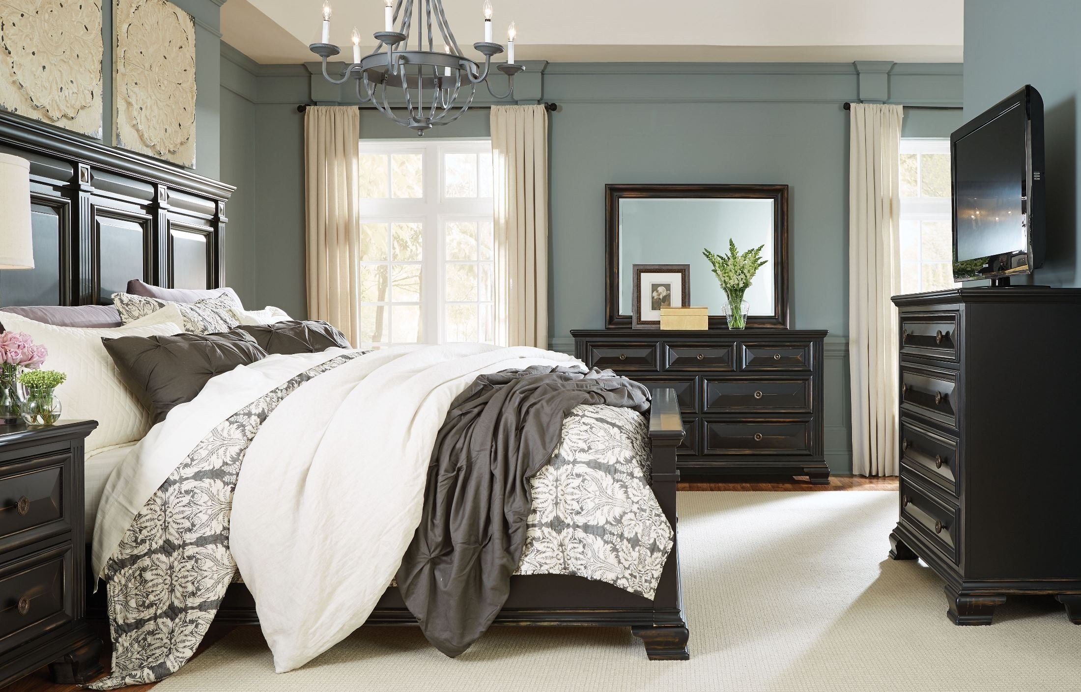Best Passages Vintage Black Panel Bedroom Set From Standard With Pictures