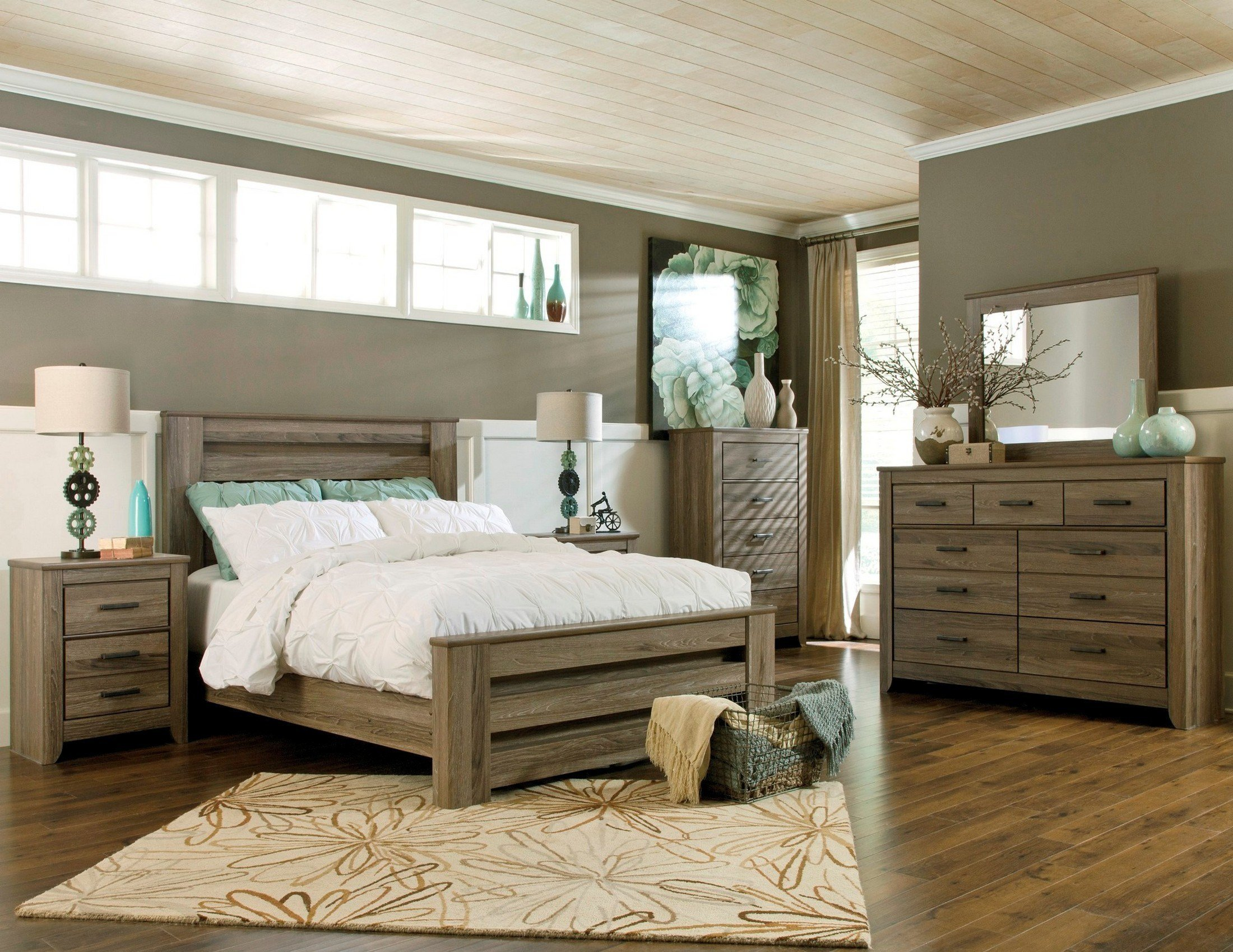 Best Zelen Poster Bedroom Set From Ashley B248 67 64 98 Coleman Furniture With Pictures
