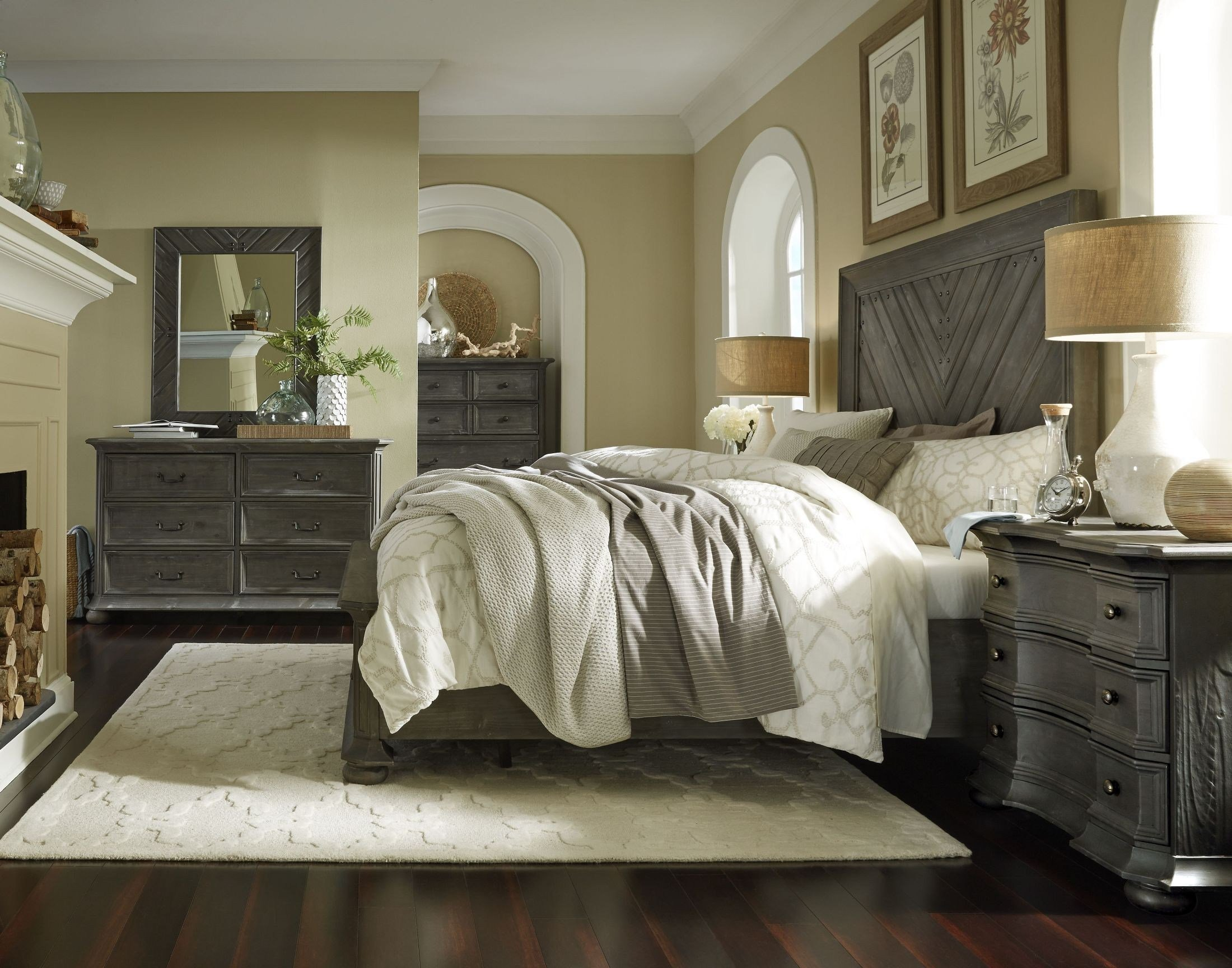 Best Cheswick Washed Linen Grey Panel Storage Bedroom Set From With Pictures