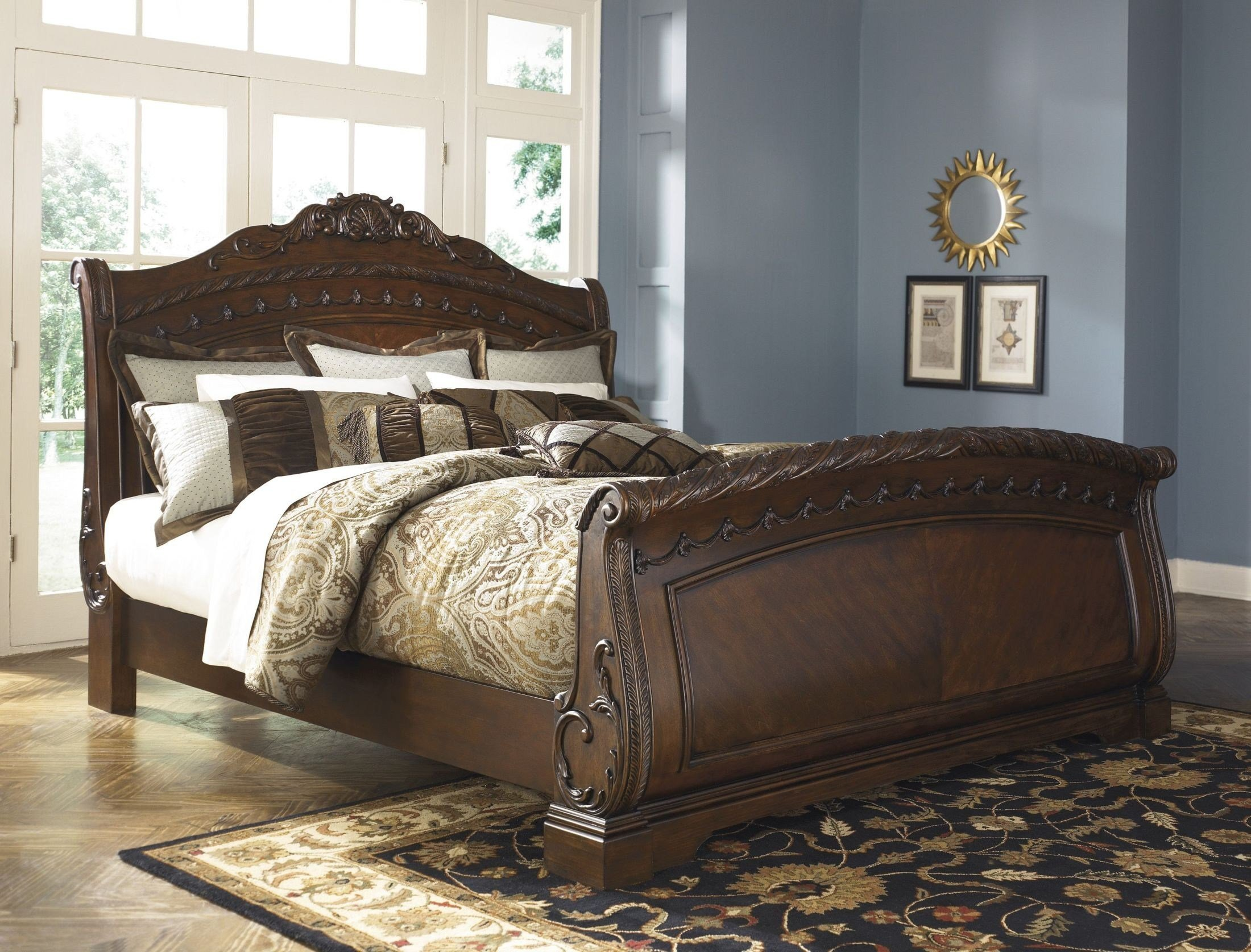 Best North Shore Sleigh Bedroom Set From Ashley B553 Coleman Furniture With Pictures