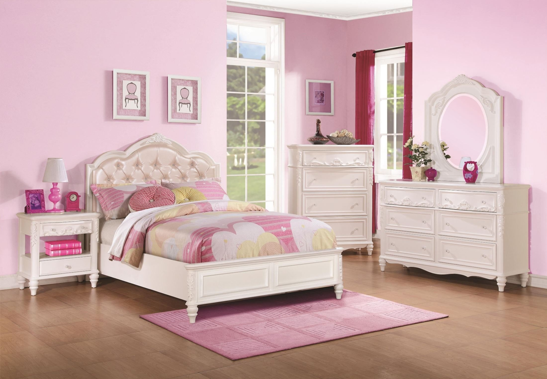 Best Caroline Diamond Tufted Youth Platform Bedroom Set From With Pictures