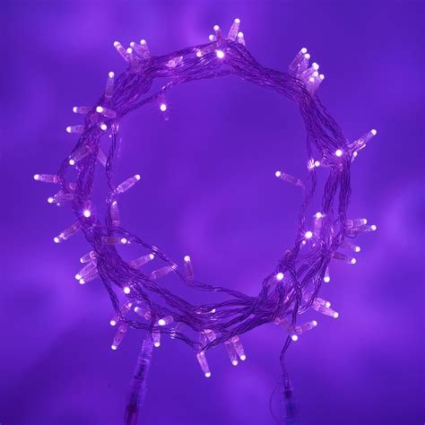 Best 80 Led Uv Purple Fairy Lights On Clear Cable Connectable With Pictures