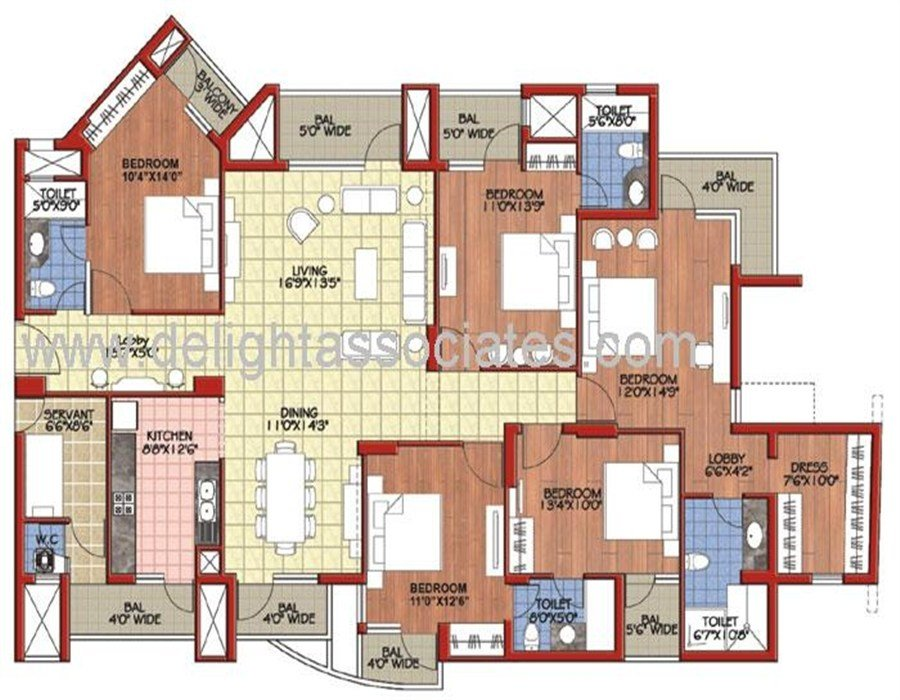Best 5 Bhk Apartments In Mohan Nagar Delight Associates A With Pictures