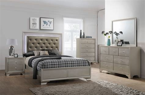 Best Lyssa Led Glam Bedroom Furniture Sets With Pictures