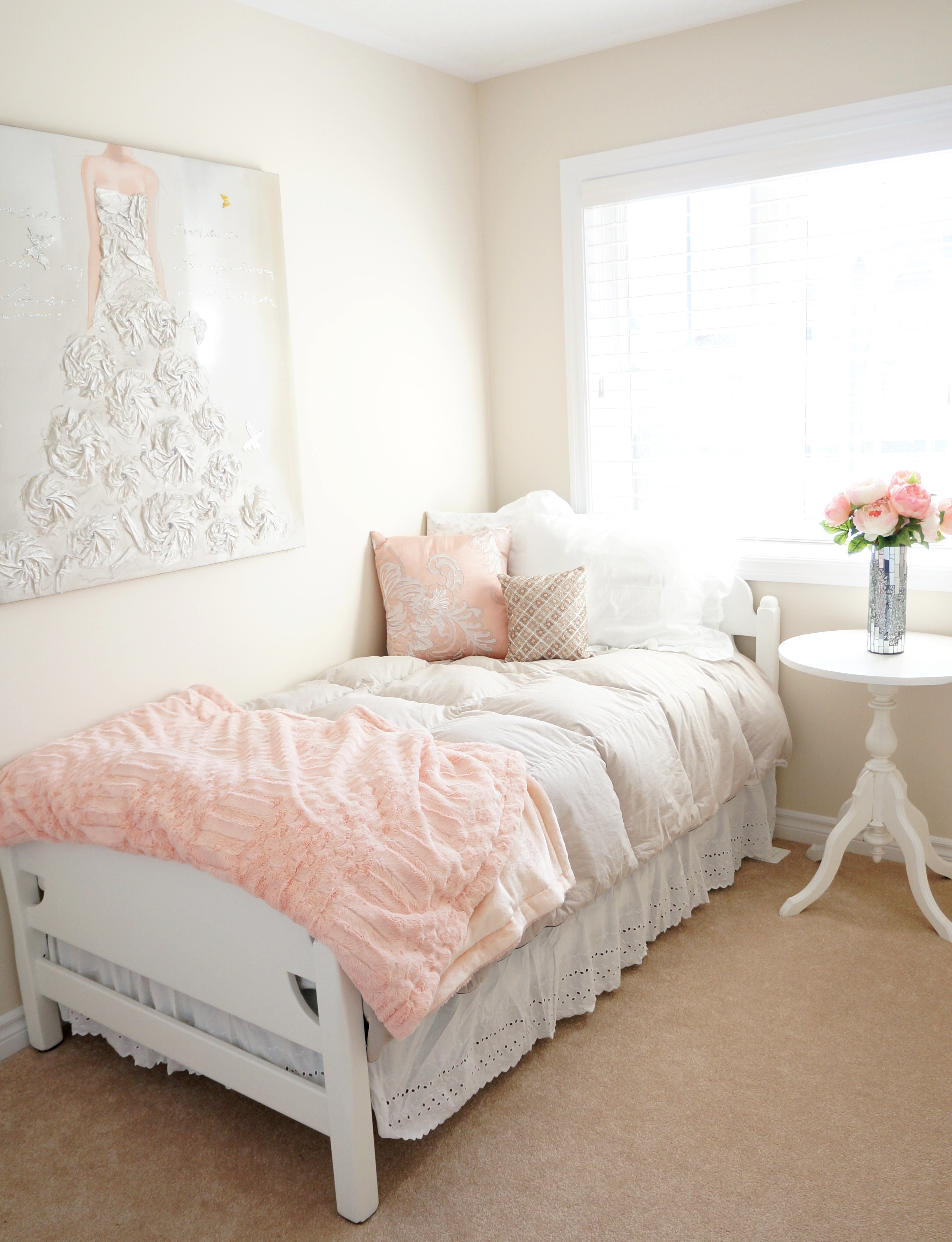 Best Blush Bedroom Makeover Haute Healthy Living With Pictures