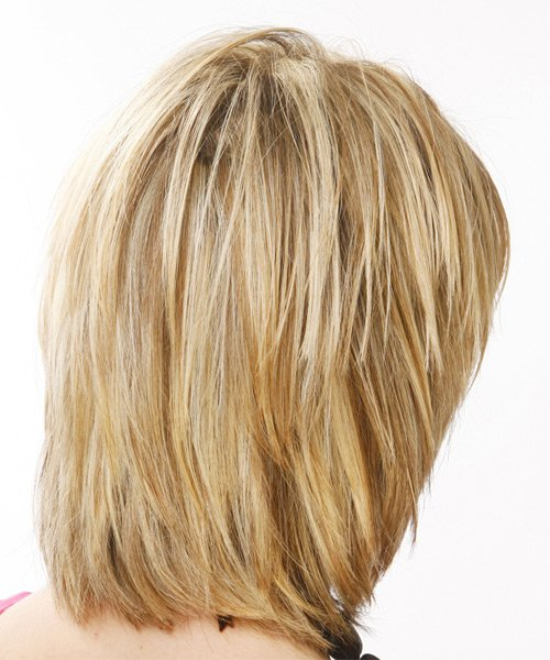 Free Casual Medium Straight Hairstyle With Layered Bangs Wallpaper