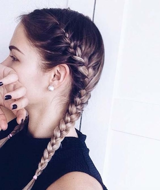 Free 35 Two French Braids Hairstyles To Double Your Style Wallpaper