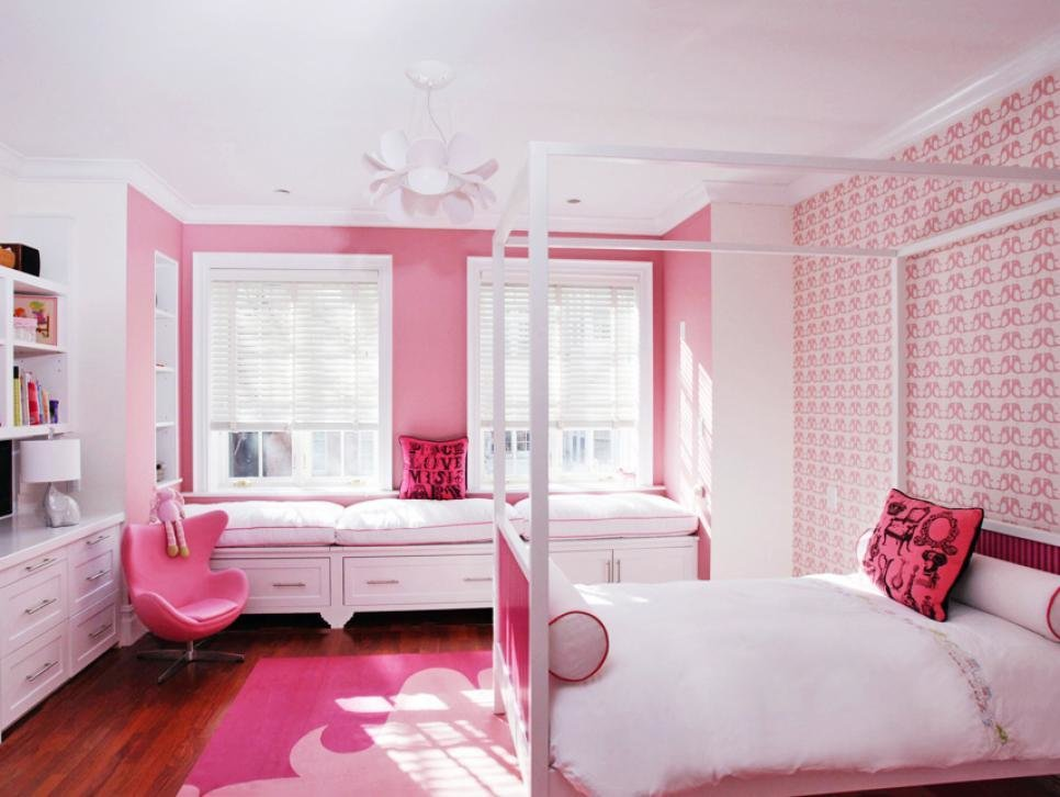 Best Pretty In Pink Girls Rooms Hgtv With Pictures