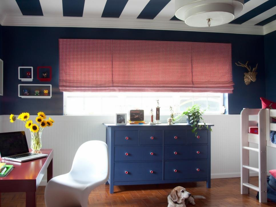 Best Blue And Red Boy S Bedroom Hgtv With Pictures