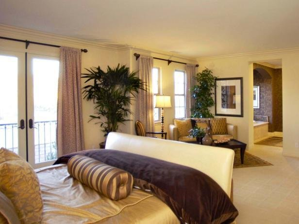 Best Elegant Master Bedroom With Gold And Purple Decor Hgtv With Pictures