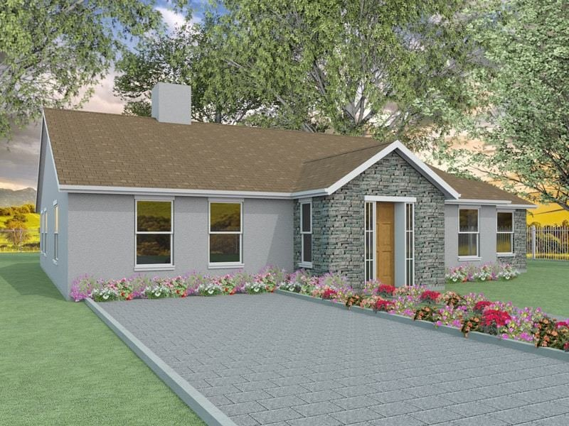 Best Two Bedroom Bungalow Designs The Millstream With Pictures