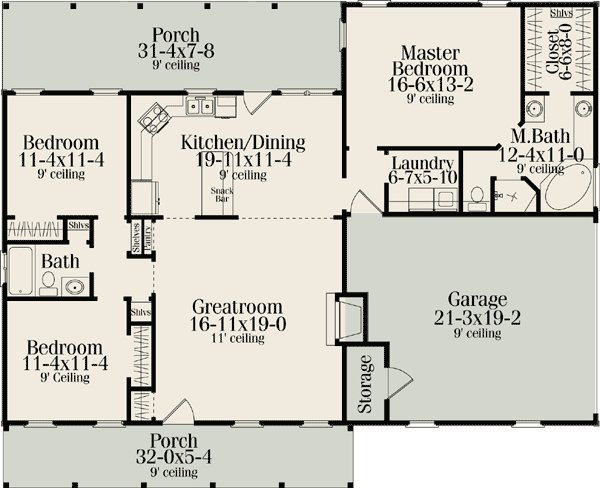 Best Ranch Style House Plans With Split Bedrooms Cottage With Pictures