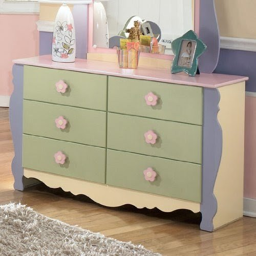 Best Ashley Furniture Girls Pastel Bedroom Dresser Sale With Pictures