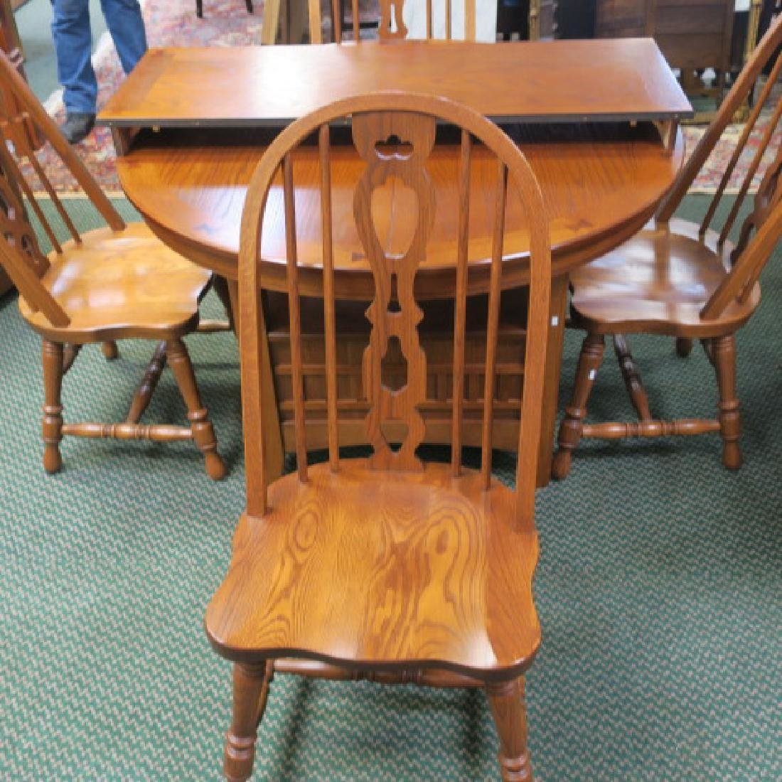 Best Richardson Brothers Oak Dining Table And 4 Chairs With Pictures