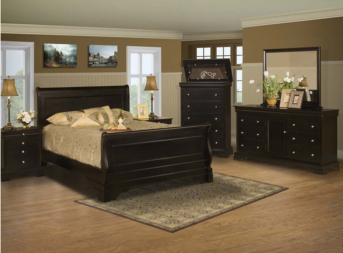 Best Belle Rose Bedroom Set Black Cherry Finish Full Queen With Pictures