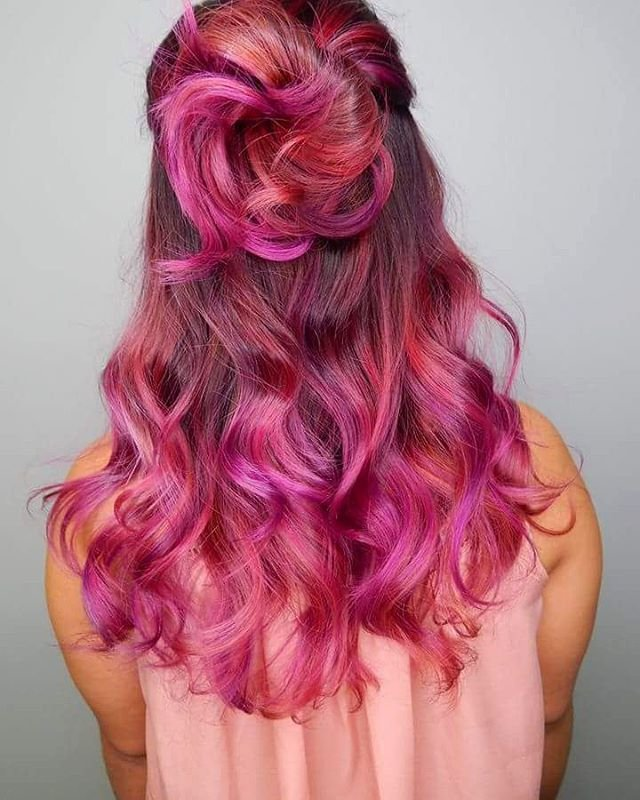Free 20 Unboring Styles With Magenta Hair Color Wallpaper