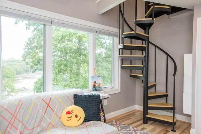 Best Turning A Loft Into A Bedroom Salter Spiral Stair With Pictures