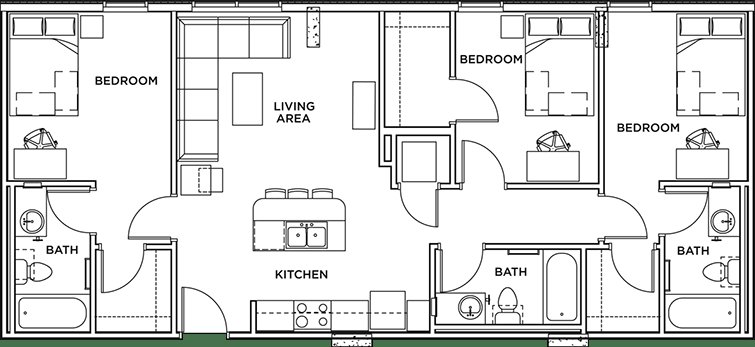 Best Floor Plans The Callaway House Austin Student Apartments In Austin Tx With Pictures