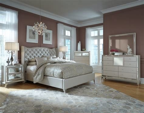 Best Hollywood Loft Bedroom Suite By Aico Hom Furniture With Pictures