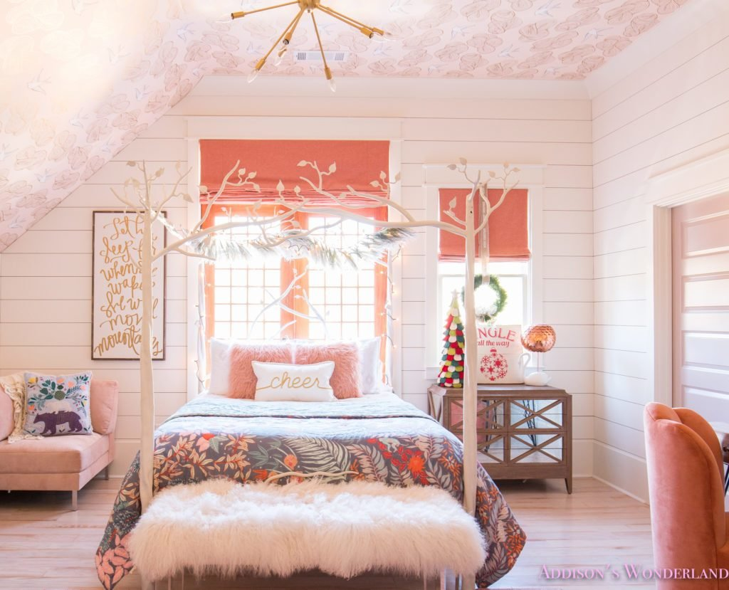 Best A Little Christmas Decor In Addison S Coral Girl S Bedroom With Pictures