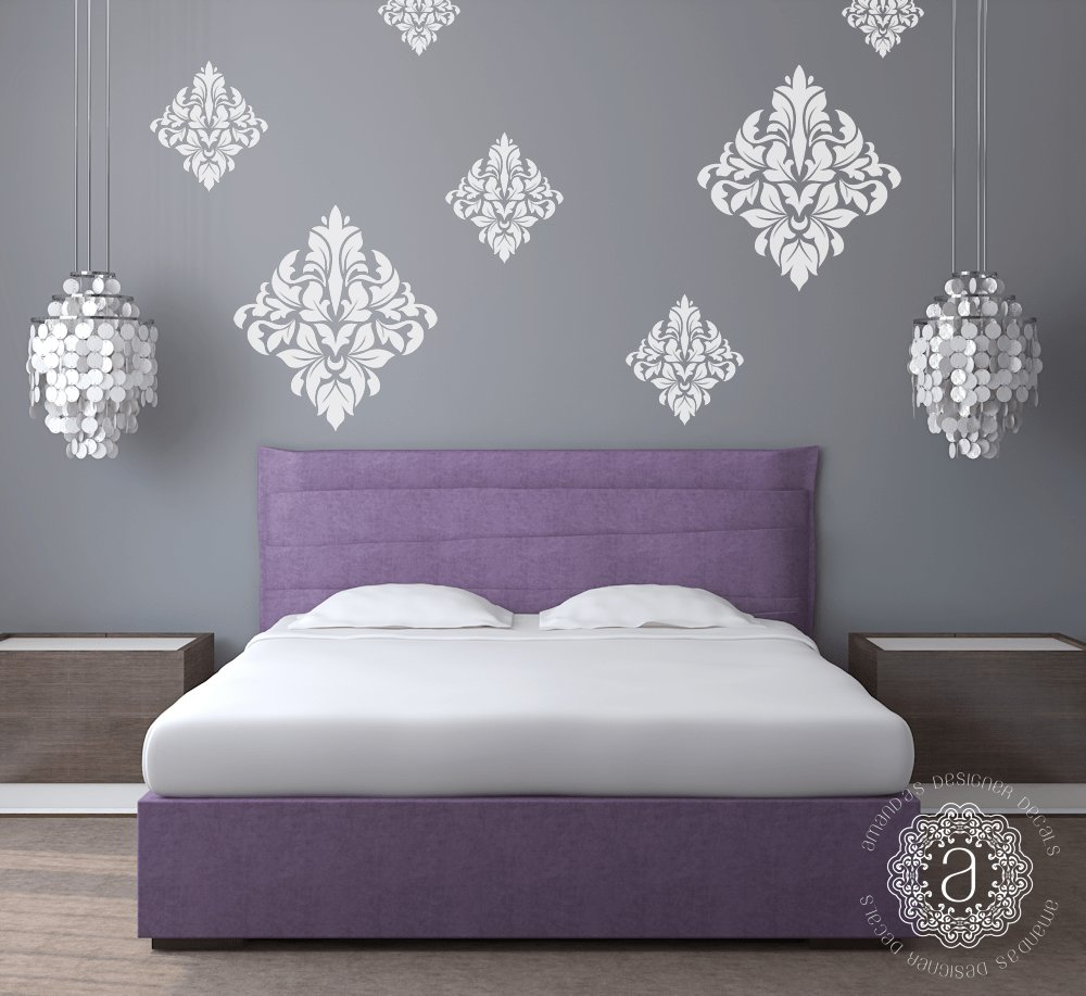 Best Damask Wall Decals Wall Decals For Bedroom With Pictures