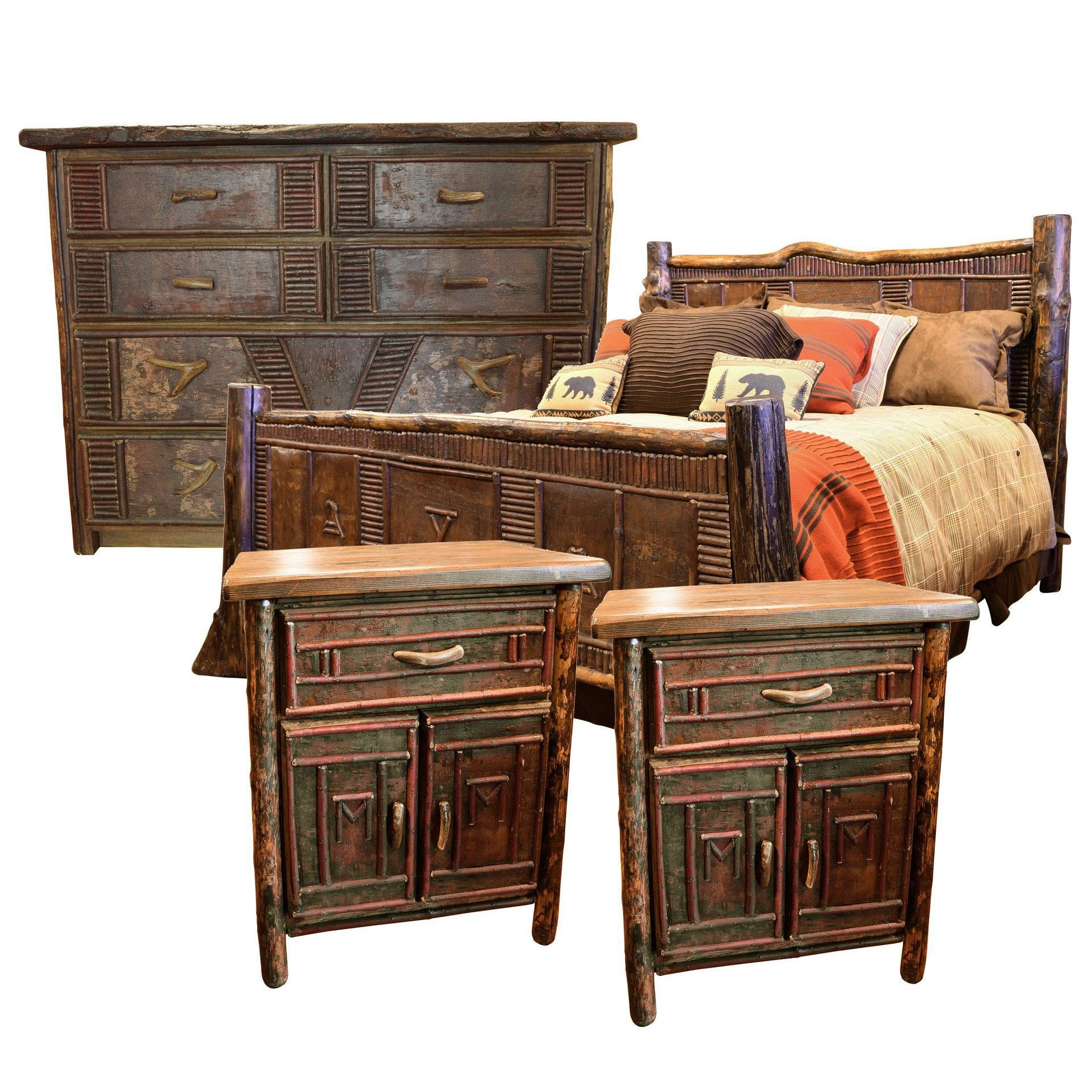 Best Birch Bark California King Size Bedroom Set For Sale At With Pictures
