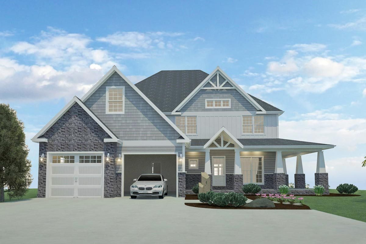 Best 4 Or 5 Bedroom Home Plan With Wraparound Porch And Walkout With Pictures