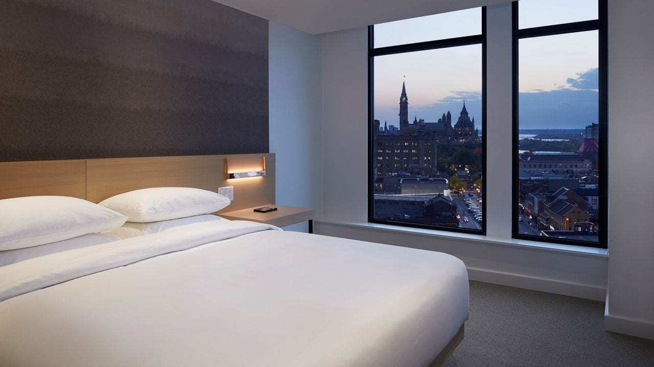 Best Luxury Rooms One Bedroom Suites Andaz Ottawa Byward Market With Pictures