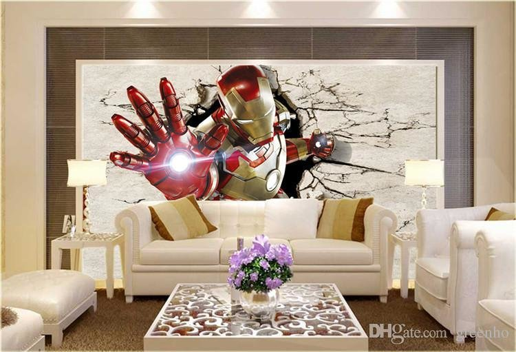 Best 3D View Iron Man Wallpaper Giant Wall Murals Cool Photo With Pictures