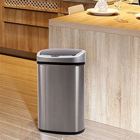 Best 13 Gallon Touch Free Trash Can Bedroom Outdoor Import It All With Pictures
