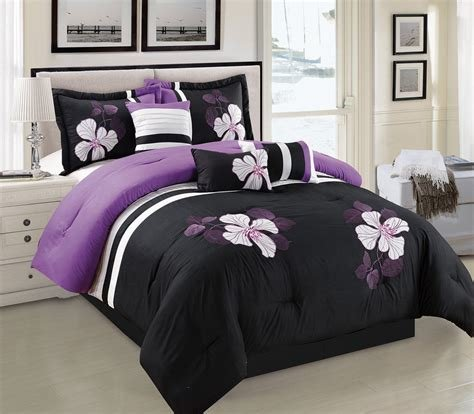 Best Black And Purple Comforter Bedding – Ease Bedding With Style With Pictures