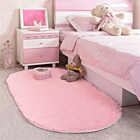Best Area Rug Soft Kids Room Girls Mat Shaggy Pink Nursery Mat With Pictures