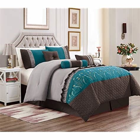 Best Teal And Brown Bedding Amazon Com With Pictures