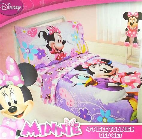 Best Minnie Mouse Bedding Set Toddler Crib Bed 4 Piece Girls Kids Room Nursery New Ebay With Pictures