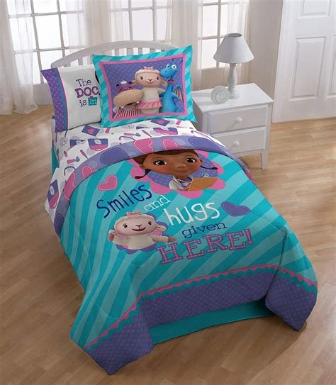 Best Doc Mcstuffin Twin Reversible Comforter Set Bedding Girls With Pictures