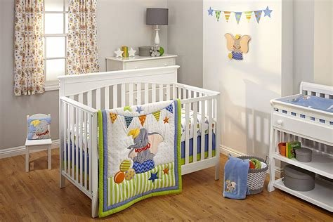 Best Crib Bedding Set 3 Piece Dumbo Disney Baby Nursery With Pictures
