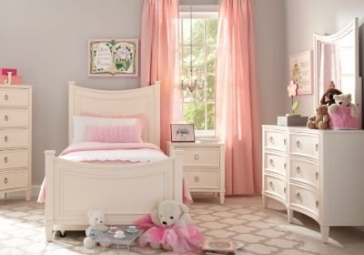 Best Jaclyn Place Ivory 4 Pc Twin Bedroom Bedroom Sets Light Wood With Pictures