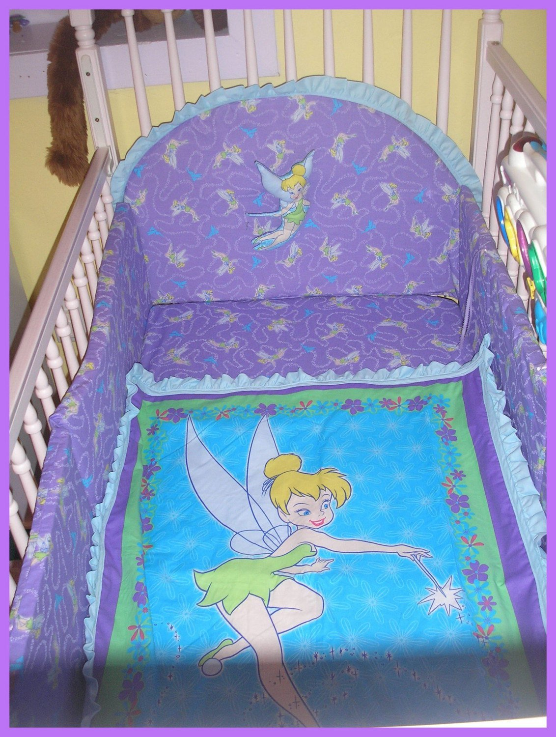 Best Tinkerbell New Full Crib Bedding Set With 7 Pieces With Pictures