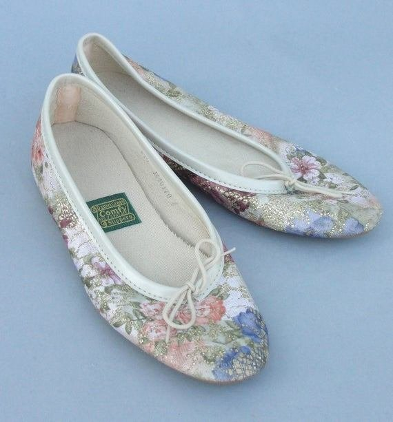 Best Vintage Daniel Green Ballet Bedroom Slippers By Houseoflenora With Pictures