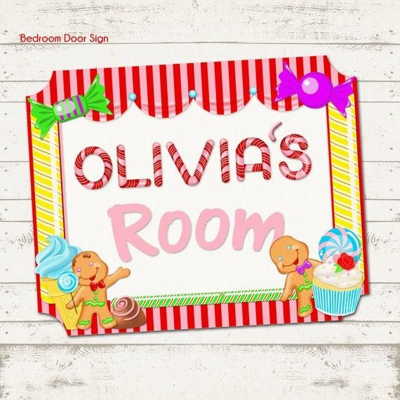 Best Candy Land Themed Children S Bedroom Door Sign Candy With Pictures