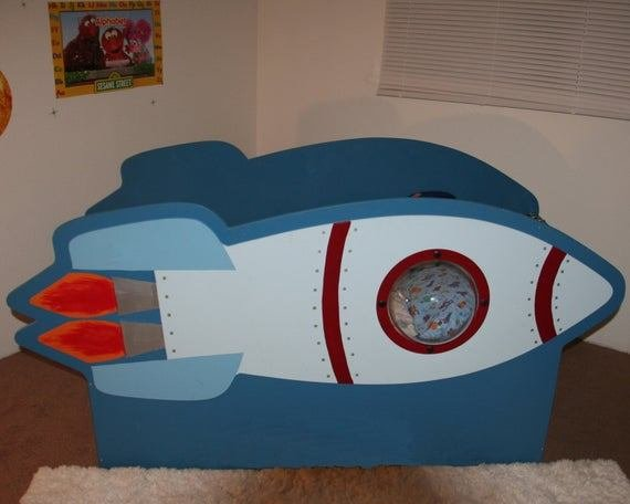 Best Items Similar To Children S Rocketship Bed On Etsy With Pictures