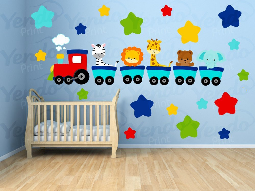 Best Wall Decals For Kids Bedroom Animal Train Wall Decal With Pictures