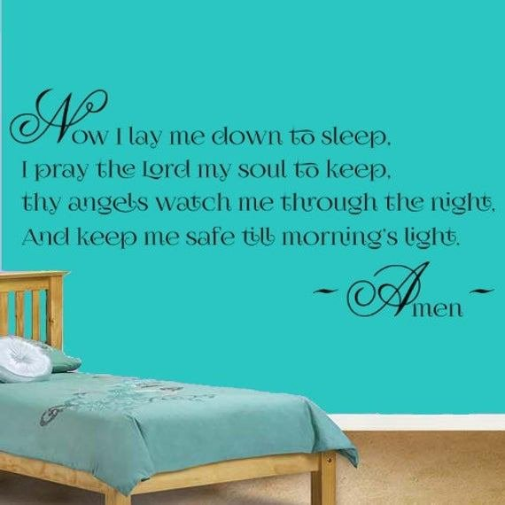 Best Items Similar To Bedtime Prayer Vinyl Wall Art Sticker With Pictures