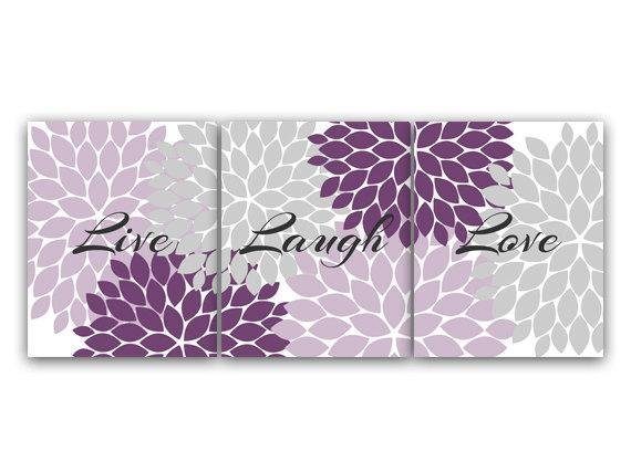 Best Purple And Grey Bedroom Decor Live Laugh Love Instant With Pictures