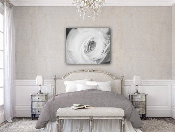 Best Elegant Black And White Canvas Art For Bedroom By Lisarussofineart With Pictures